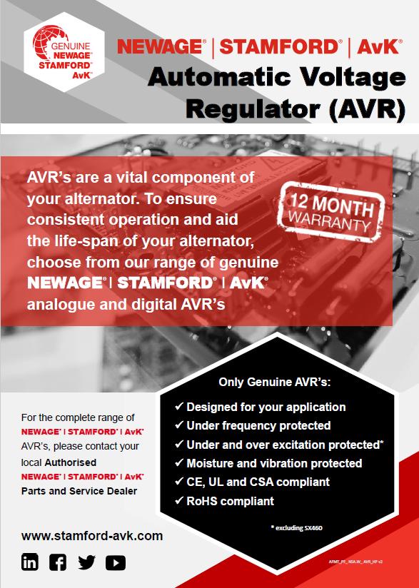Regulador de voltaje automático NEWAGE STAMFORD AvK